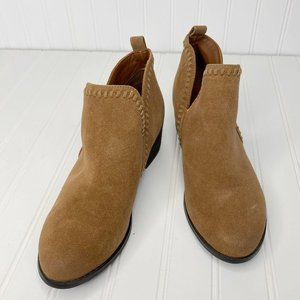 Call It Spring Brown Faux Suede Laced Slip On Boot
